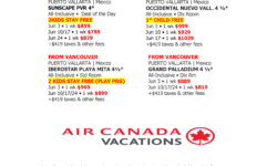 Best Deals of the week – Air Canada Vacations