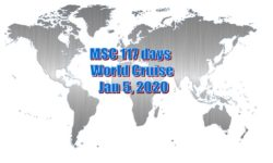 MSC 117 day world cruise: Jan 5, 2020