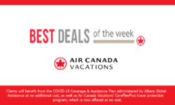 "Campbell Travel selling ""Air Canada Vacations"" Products"