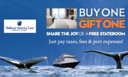 Buy One-Gift One (FREE STATEROOMS!)  – HAL