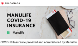 COVID-19 Insurance provided and administered by Manulife – Air Canada