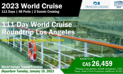 2023 World Cruise –  PCI – 111-Day World Cruise