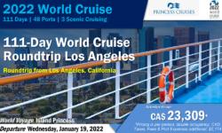 2022 World Cruise –  PCL – 111-Day World Cruise