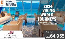 2024 VIKING WORLD JOURNEYS – 121 Days