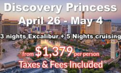 Las Vegas 3 Nights  + 5 Nights Cruising