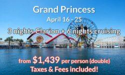 DISNEYLAND 3 Nights Anaheim  + 6 Nights Cruising